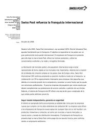 Swiss Post refuerza la franquicia internacional