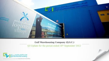 Q3 Update for the period ended 30th September 2012 - Gulf ...
