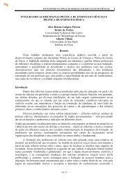 Integrando as Disciplinas Prática de Ensino em Ciências e Prática de