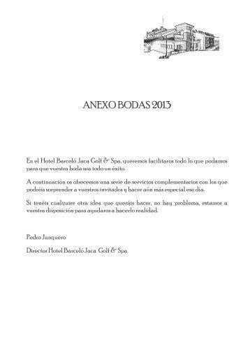 ANEXO BODAS 2013 - Barcelo.com