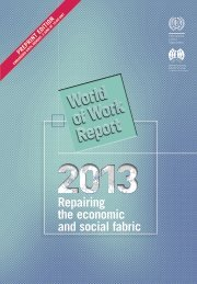 World of Work Report 2013 - International Labour Organization