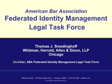 Federated Identity Management Legal Task Force - FIPS201.com