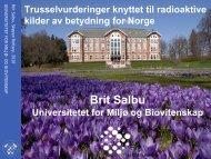 Brit Salbu - Oslo Vest Rotary Klubb