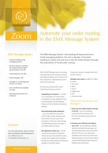 Automate your order routing in the EMX Message System - Euroclear