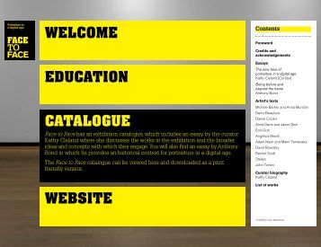 WELCOME CATALOGUE EDUCATION WEBSITE - DLux Media Arts