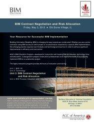 BIM Contract Negotiation and Risk Allocation - Arnstein & Lehr LLP