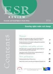 ESR Review - Community Law Centre