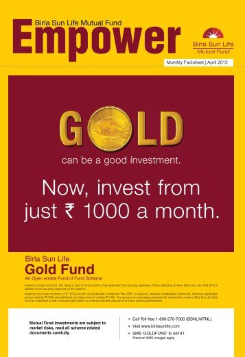 Empower for the Month of April 2012 - Birla Sun Life Mutual Fund