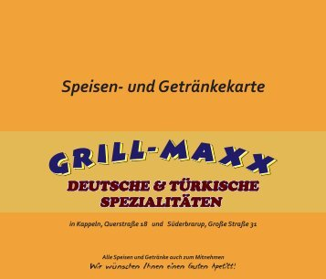 SPEZIAL mit Pommes und 0,33l Getränk mit ... - Grill-Maxx-Kappeln
