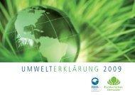 umwelterklärung 2009 - Hochschule für nachhaltige Entwicklung ...