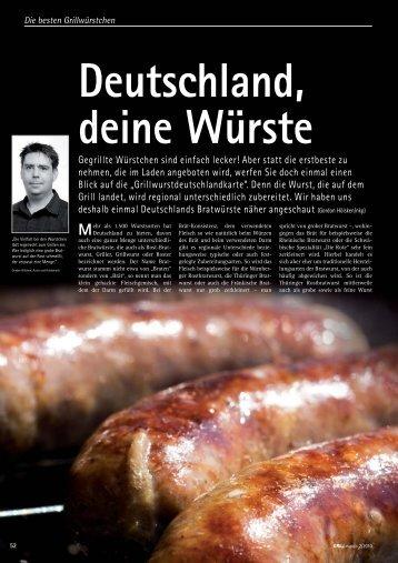 Deutschland, deine Würste - Grill-Magazin