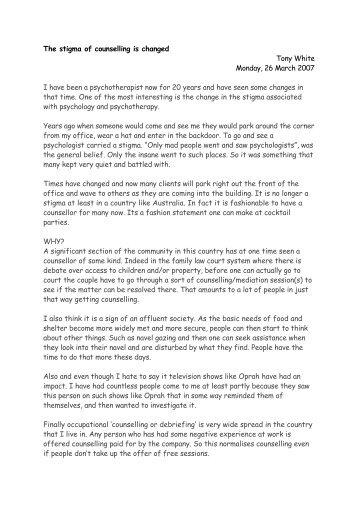 The stigma of counselling i.cwk (WP).pdf - Tony White