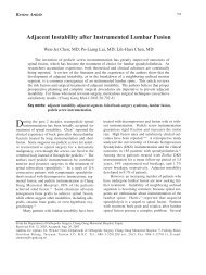 Adjacent Instability after Instrumented Lumbar Fusion