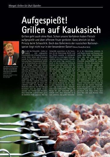 Aufgespießt! Grillen auf Kaukasisch - Grill-Magazin