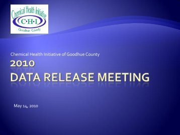 Data Release Presentation - CHI of Goodhue County