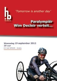 Paralympiėr Wim Decleir vertelt... - Stad Harelbeke