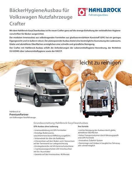 Volkswagen Nutzfahrzeuge Crafter - Hahlbrock
