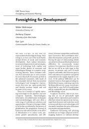 Foresighting for Development* - Greenleaf  Publishing