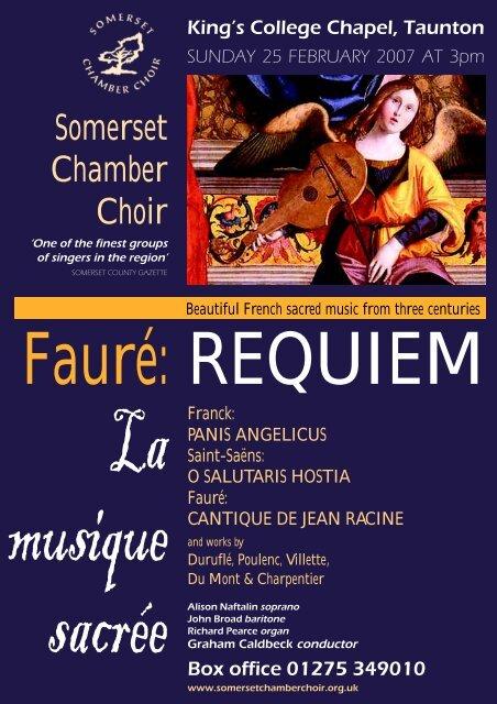 leaflet faure.p65 - Somerset Chamber Choir