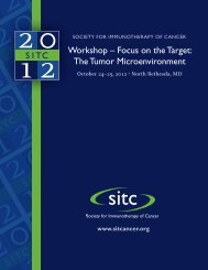 Workshop – focus on the Target: The Tumor microenvironment