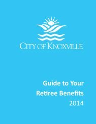Benefits Enrollment Guide for Retirees [PDF] - City of Knoxville