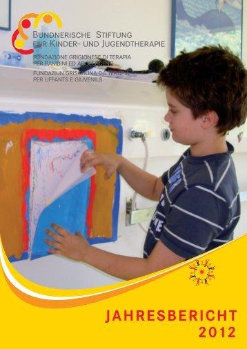 Jahresbericht 2012 - Bündnerische Stiftung für Kinder- und ...