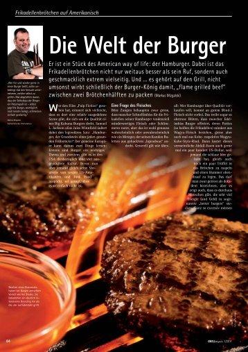 Die Welt der Burger - Grill-Magazin
