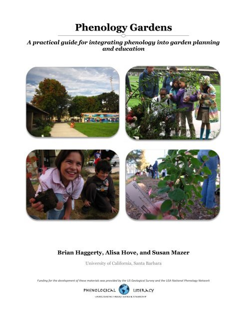 Phenology Gardens - USA National Phenology Network