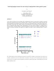 1 Scattering imaging to measure size and velocity of small particles ...