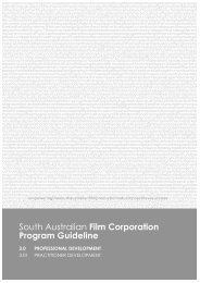 South Australian Film Corporation Program Guideline