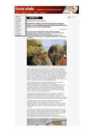 forum Schule: Der Schüler, ein Kunde