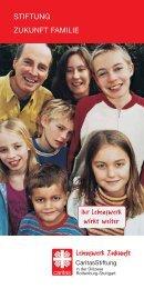 """Broschüre der Stiftung """"herunterladen"""" - Lebenswerk Zukunft"""