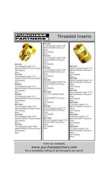 Threaded Inserts.pdf - Purchase Partners