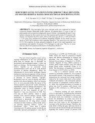 serum iron level in patients with chronic viral hepatitis - Liaquat ...