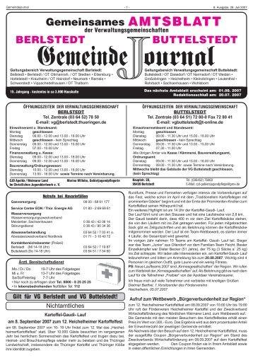 Journal 08-07.indd - in Großobringen