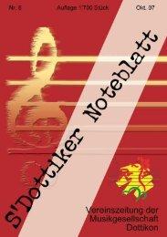 s'Dottiker Noteblatt Nr. 8 (PDF) - Musikgesellschaft Dottikon
