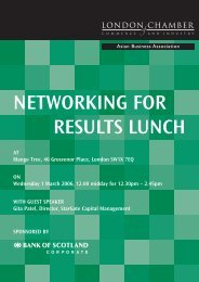 networking for results lunch - London Chamber of Commerce and ...