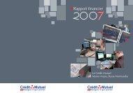 Rapport financier - Crédit Mutuel