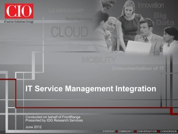 Integrated service management - FrontRange Solutions