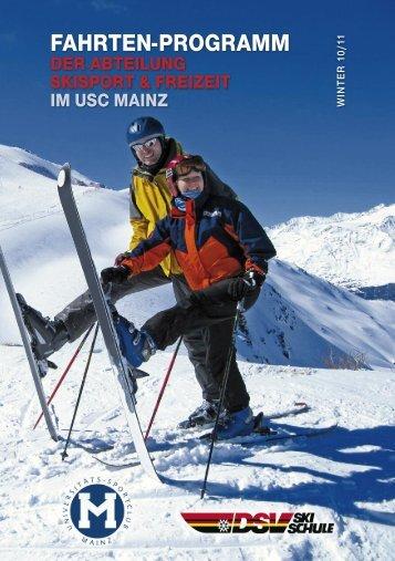Das Fahrtenprogramm 2010/2011 als .pdf-Datei zum ... - USC Mainz