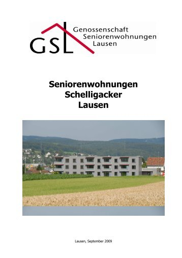 gv protokoll - genossenschaft seniorenwohnungen lausen, Einladung