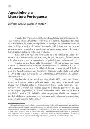 Agostinho e a Literatura Portuguesa - Instituto de Filosofia