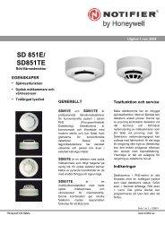 SD 851E/ SD851TE - Notifier