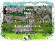Instrucciones Para La Justicia Social - Iglesia Biblica Bautista de ...