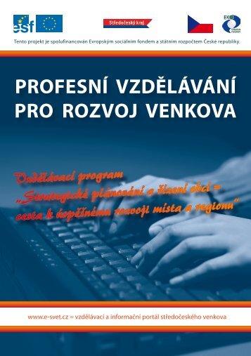 """brožura """"Profesní vzdělávání pro rozvoj venkova"""""""