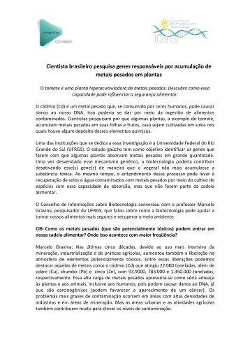 Cientista brasileiro pesquisa genes responsáveis por ... - CIB