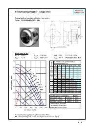 Freewheeling impeller - single inlet