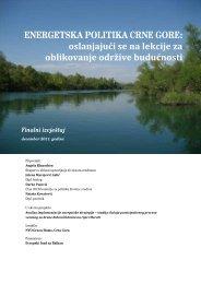 ENERGETSKA POLITIKA CRNE GORE ... - NVO Green Home