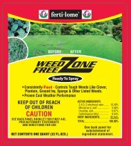 Label 10527 Weed Free Zone RTS Approved 3-5-13 - Fertilome