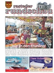 rasteder rundschau, Ausgabe März 2012